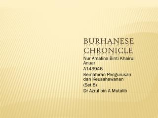 Burhanese  Chronicle