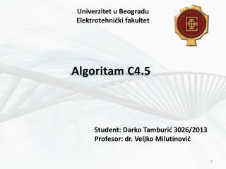 Algoritam C4.5