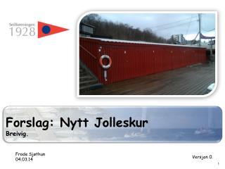 Forslag: Nytt Jolleskur Breivig .