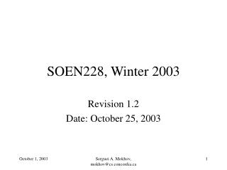 SOEN228, Winter 2003