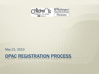 OPAC Registration  process