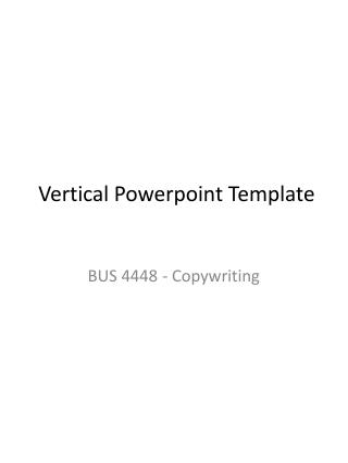 Vertical  Powerpoint  Template