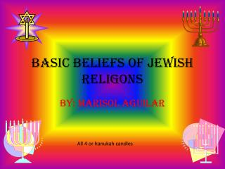 Basic beliefs of  jewish religons