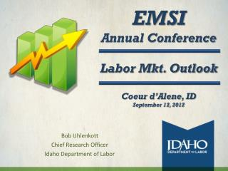 EMSI Annual Conference Labor Mkt. Outlook Coeur d'Alene, ID September 12, 2012