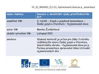 VY_32_INOVACE_Čj.3.15_Vyjmenovaná  slova  po  p_  prezentace