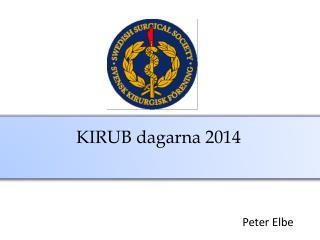 KIRUB dagarna 2014