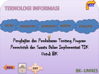 Pengkajian d an  Pembahasan Tentang Program Pemerintah dan Swasta Dalam Implementasi TIK Untuk BK