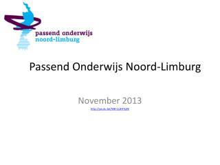 Passend Onderwijs Noord-Limburg