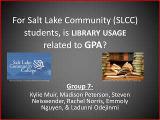 For Salt Lake Community (SLCC) students, is  library usage  related to  GPA ?