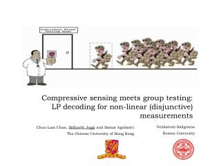 Compressive sensing meets group testing: LP decoding for non-linear (disjunctive) measurements