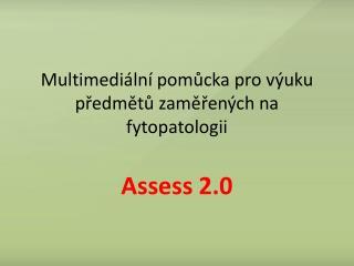 Multimediální pomůcka pro výuku předmětů zaměřených na fytopatologii
