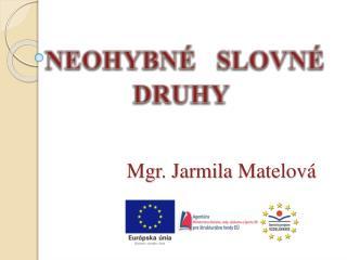 Mgr. Jarmila  Matelov�