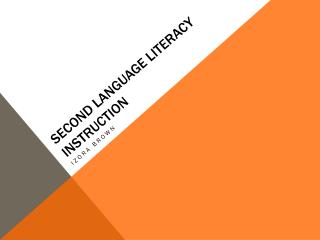 Second Language Literacy Instruction