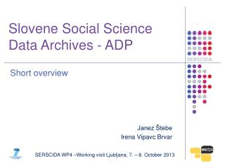 Slovene Social Science Data Archives - ADP