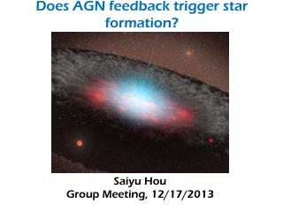 Does AGN feedback trigger star formation?