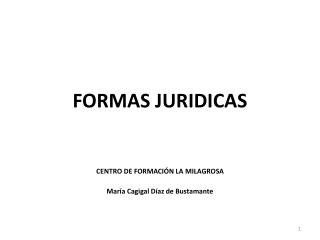 FORMAS JURIDICAS