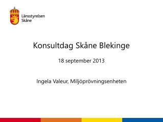 Konsultdag Skåne Blekinge