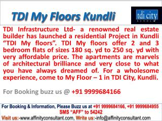 tdi my floors kundli sonepat @ 09999684166