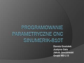 Programowanie parametryczne CNC SINUMERIK-810T