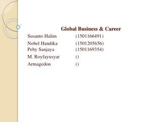 Global Business & Career
