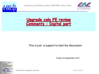 Upgrade calo FE  review Comments : Digital part