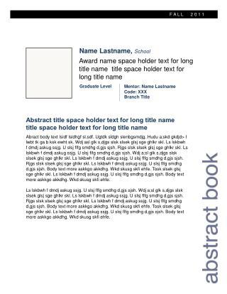 Name  Lastname ,  School