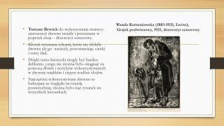 Wanda Korzeniowska (1883-1935, Lwów),             Grajek podwórzowy, 1931, drzeworyt sztorcowy