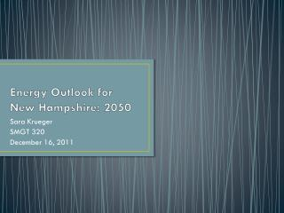 Energy Outlook for New Hampshire: 2050