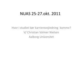 NUAS 25-27.okt. 2011
