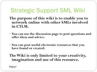 Strategic Support SML Wiki
