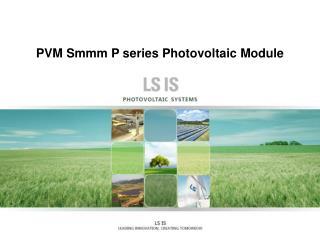 PVM Smmm  P series Photovoltaic Module