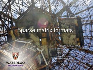 Sparse  matrix formats