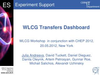 WLCG Transfers Dashboard