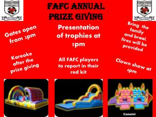 FAFC Annual  Prize giving