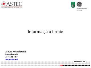 Informacja o firmie