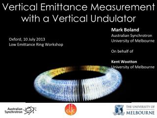 Vertical Emittance Measurement with a Vertical Undulator