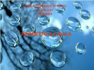 PROGETTO A.C.Q.U.A.