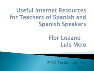 FUSD Technology Fair 2011