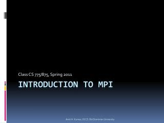 Introduction to mpi