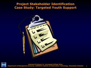 Project Stakeholder Identification Case Study: Targeted Youth Support