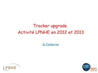 Activité LPNHE en 2012 et 2013