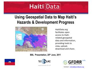 Using Geospatial Data to Map Haiti's  Hazards & Development Progress