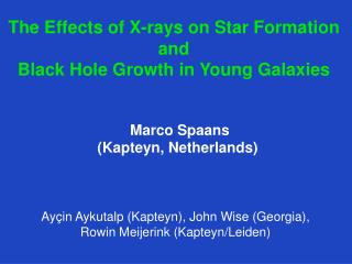 The  Effects  of X- rays  on  Star  Formation and Black  Hole  Growth  in Young  Galaxies