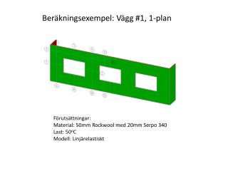 Ber�kningsexempel: V�gg #1, 1-plan