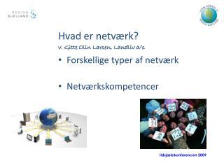 Hvad er netværk ? v. Gitte Olin Larsen,  Landliv a/s Forskellige typer af netværk