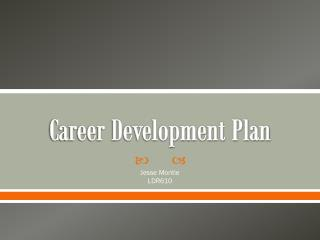 Career Development Plan
