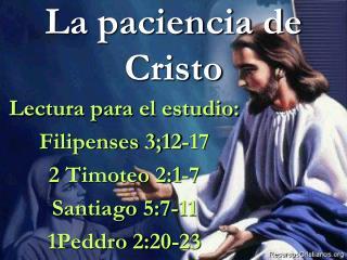 La paciencia de Cristo