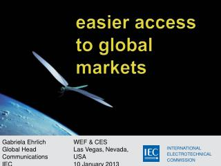 WEF & CES Las  Vegas, Nevada, USA  10 January 2013