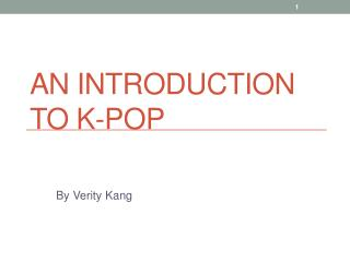 An Introduction to K-POP