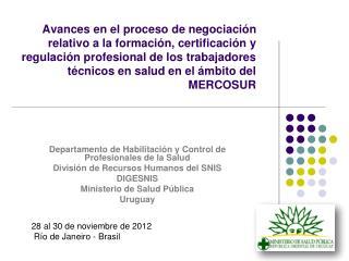 Departamento de Habilitaci�n y Control de Profesionales de la Salud